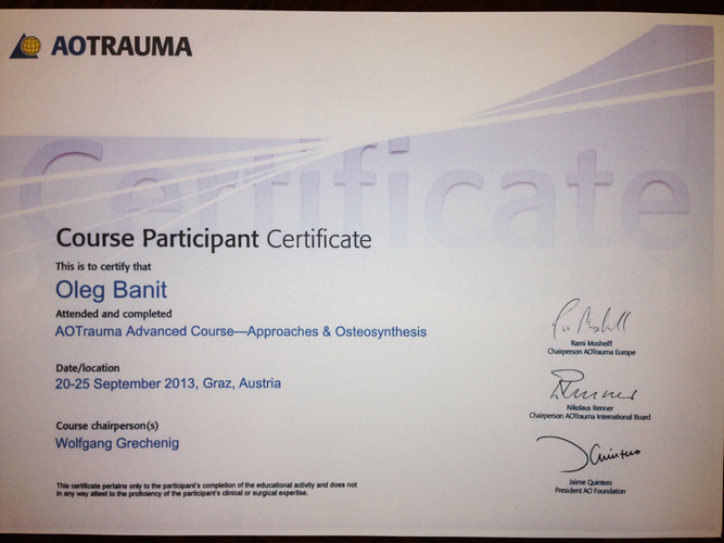 aotrauma advanced coursepproaches & osteosynthesis